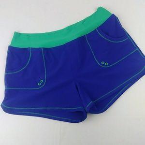 Prana MILLIE Board Shorts Purple Teal Swim Pockets
